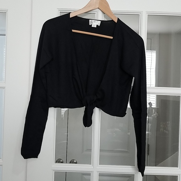 LOFT Sweaters - Ann Taylor Black Shrug